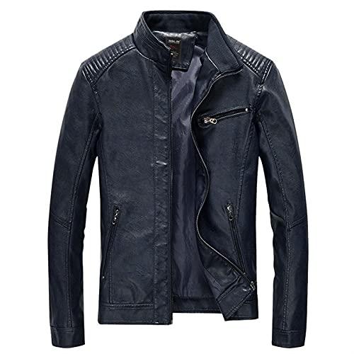 Chaqueta de moto de cuero encerado para hombre,abrigo de motociclista de...