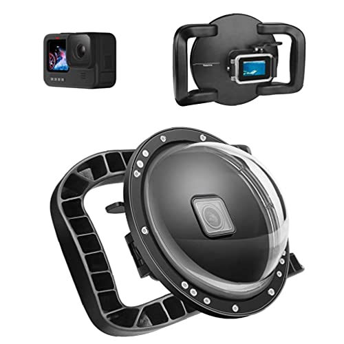 Puerto de cúpula de doble mango compatible con GoPro 9 submarino integrado caja de carcasas de cúpula Utilidad