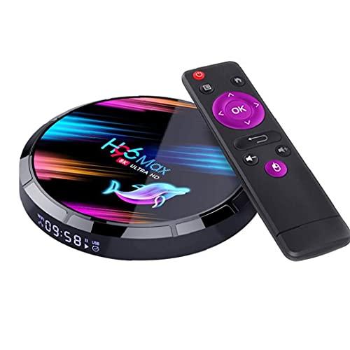YepYes Smart TV Caja H96 MAX X3 Quad Core 8K Wi-Fi HD Media Player Compatible con Android 4 + 32G Enchufe de EE.UU.