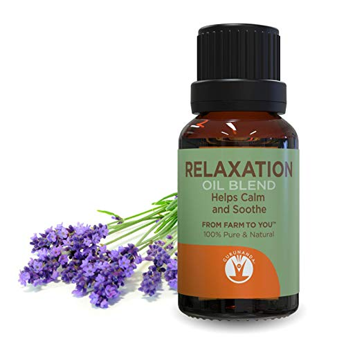 RELAXATION Essential Oil Blend - De-Stress Essential Oils - Save With GuruNanda Essential Oil Synergy Blend - 100% Pure Therapeutic Grade - Undiluted - 15 ml
