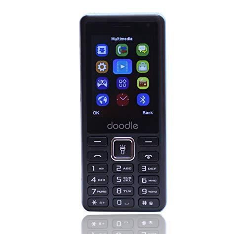 iAir Basic Feature Dual Sim Mobile Phone with 1000mAh Battery, 2.4 inch Display Screen, 0.8 mp Camera (IAIRFPS1S, Black)