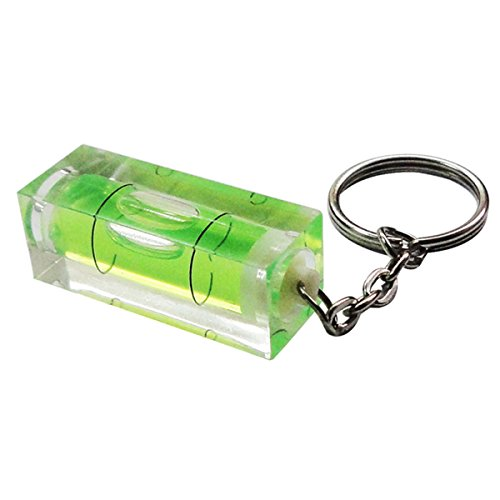 Llaveros Mini Nivel de Burbuja Verde