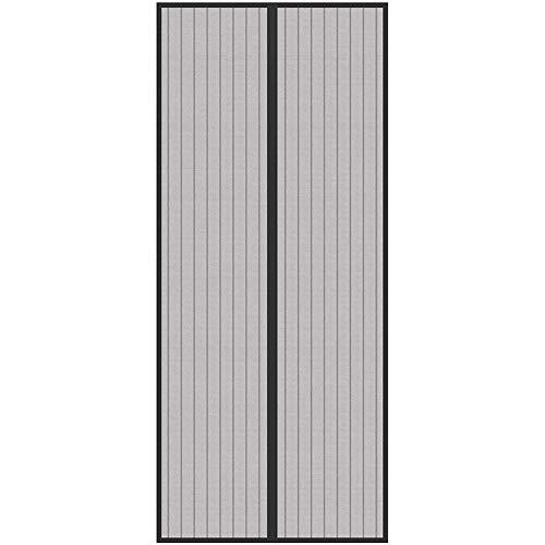 KSITH Anti Mosquito Magnetic Soft Door Summer Magnetic Mute Perforated Invisible Screen Door for Bedroom Living Room Kitchen Mosquito Net Door (Black)