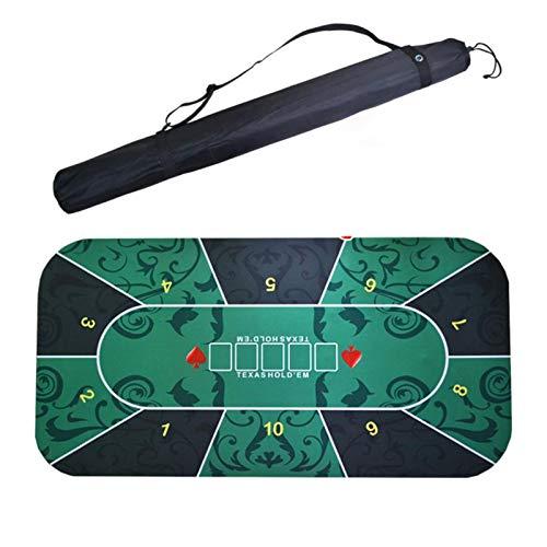 LOVOICE Pokermatte,Pokertuch, 1,2 X 0,6 M Pokerteppich – Pokertischauflage,Tragbare Pokertischmatte Texas Hold Em Pokermatte Mit Trageschlauch