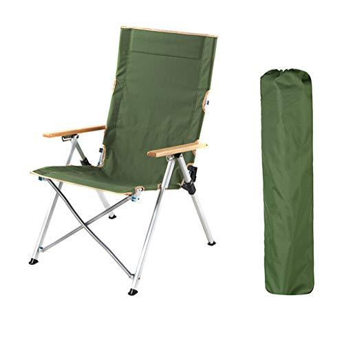 Chaise Pliante, En Aluminium Léger Extérieur Chaise Pliante Portable Inclinable Croquis De Pêche Chaise Loisirs Camping Chaise De Plage (Couleur : Green)