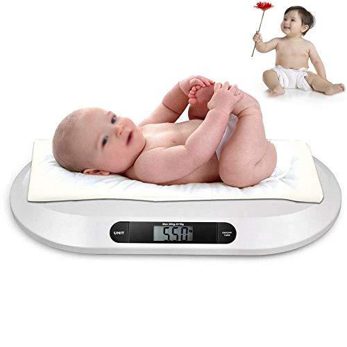 Elektronische Babywaage Digitale Stillwaage Tierwaage Kinderwaage Säuglingswaage Gesundheitswaage Badezimmerwaage mit Tarierfunktion 20 kg/44LBS