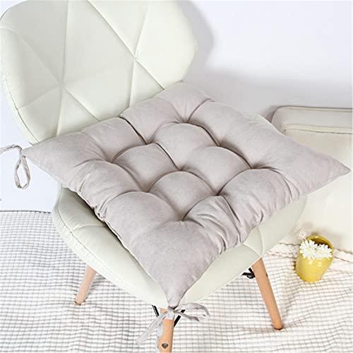 SWECOMZE Sitzkissen 2er-Set Kissen Stuhlkissen Auflage Sitzauflage, 40 * 40cm Gartenstuhlkissen, Sitzauflage Auflage für Garten, Balkon Terrasse (Silber grau,Quadrat)
