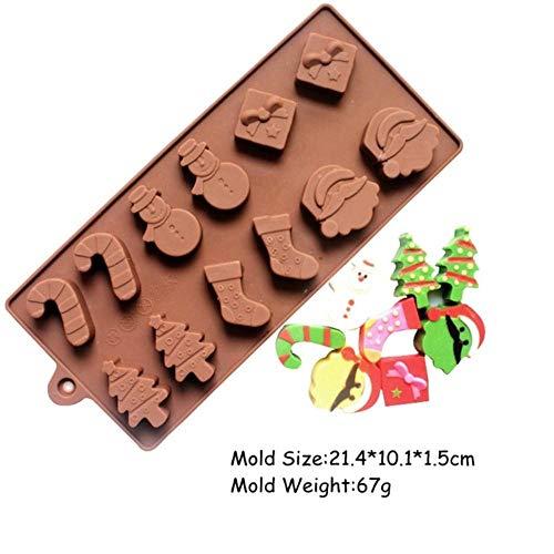 HJCWL 1 stuk chocoladevorm van siliconen vormen multiple vormen voor caramel chocolade chocolade bakvorm 3D