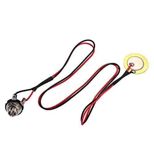 Healifty transductor piezoeléctrico transductores amplificadores piezoeléctricos discos individuales con cables para guitarra...
