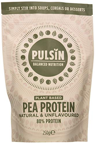 Pulsin, Pulsin' Unflavoured Pea Protein Powder| 80% Protein | Natural | Vegan | Low Carb should be Pulsin Natural Unflavoured Plant Based Vegan Free From Pea Protein Powder, 250g