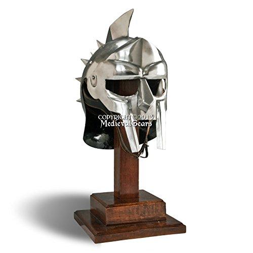 中世のギアーズ ブランド 着用可能 ローマ グラディエーター スパイク付きヘルメット 18G スチール 中世ルネッサンスコスチューム