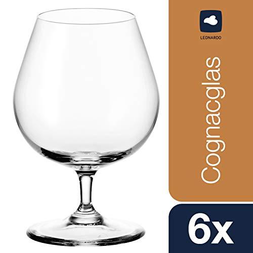 Leonardo Cognacschwenker Ciao+, Cognac-Glas im klassischen Stil, Weinbrand-Gläser mit 400-ml Füllmenge, 6-teilig, 061454