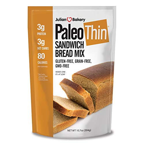 Julian Bakery | Paleo Thin | Bread Mix | Gluten-Free | Grain-Free | Low Carb | Easy To Make | 10.7 ounce