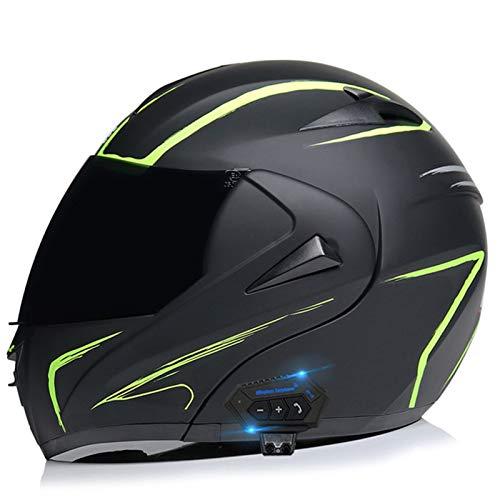 Cascos de Moto Bluetooth Modulares Con Doble Visera ECE Homologado Casco Integrado...