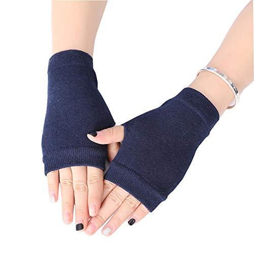 Casue Frauen Mädchen Fingerlose Handschuhe, Damen Gestrickter Fingerless Pulswärmer Halbfinger Handschuhe Armstulpen Strickhandschuhe Wollhandschuhe Hand Stulpen Winterhandschuhe
