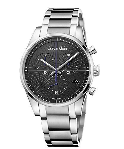 Calvin Klein Herren Chronograph Quarz Uhr mit Edelstahl Armband K8S27141