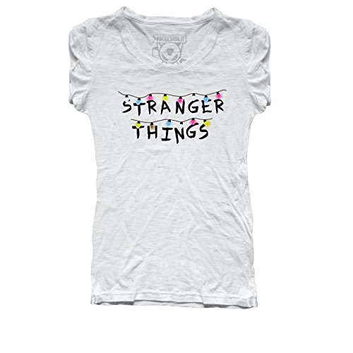 PACDESIGN T-Shirt Donna Stranger Things Serie TV Show Series ET Anni 80 80S PD0008A