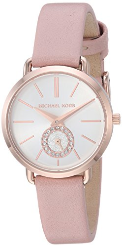 Michael Kors Damen Water Resistant Quartz Uhr mit Leather Armband MK2735