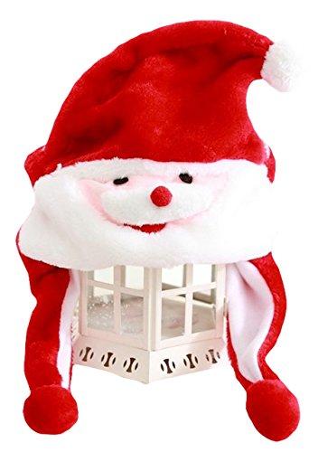 Good Night Cappello della peluche del Babbo Natale con i paraorecchie, aggiunta del costume del partito di cosplay di natale