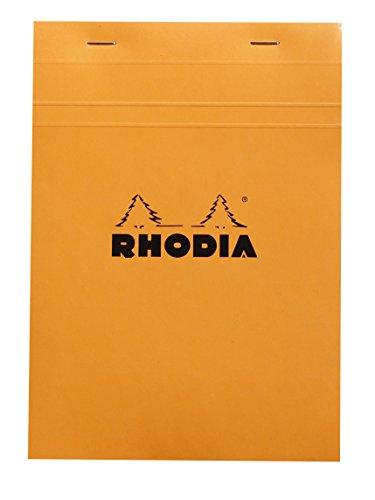 Rhodia Head Stapled Pad, No16 A5, Square Ruling - Orange