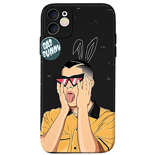 Bad B-u-N-NY iPhone 11 case,Soft Slim Flexible TPU Cover with Full HD+Graphics for iPhone 11(6.1) (Bad-Bunny)