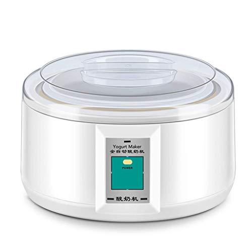 SCJ Automatische 1,5-l-Joghurtmaschine, multifunktionale Kinderjoghurtmaschine, hausgemachte Reisweinmaschine, kleine Gärmaschine für Tassen mit 7 * 100 ml Glas- und Edelstahlliner, für zu Hause
