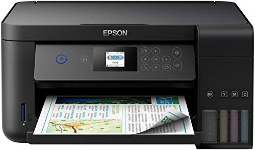 Epson EcoTank ET-2751, 3-in-1-Multifunktion, Drucken vorne/hinten, Scannen, Kopieren, Format A4, A5, A6, B5, C6, DL, LCD 3,7 cm, WLAN, schwarz