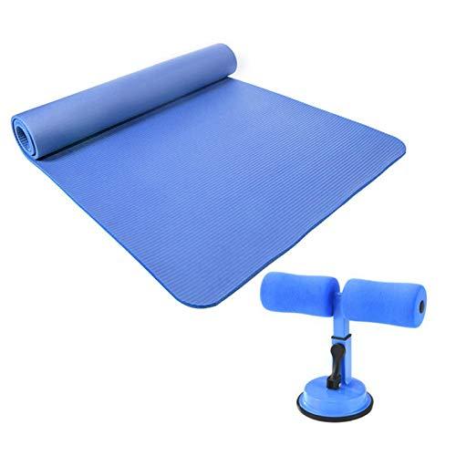 Yhjkvl Esterilla de yoga con protección ambiental e insípida para práctica de yoga, alfombrilla antideslizante (tamaño: 1830 x 610 x 10 mm; color: morado)