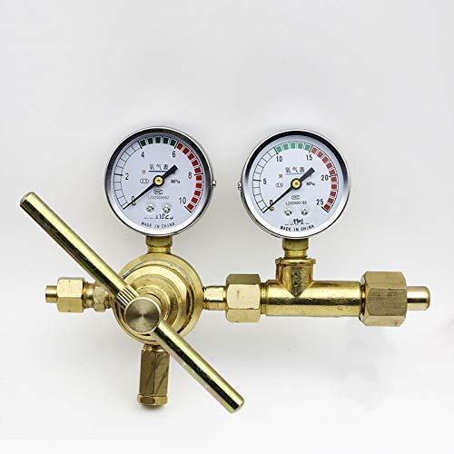 Barry Century Régulateur de pression de gaz - Oxygène - Hydrogène - Haute pression - 10 MPa - 6 MPa - En cuivre pur - Réducteur de pression
