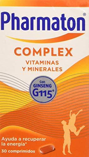 Pharmaton | Multivitamínico con ginseng | Complex 30 comprimidos | Ayuda a recuperar la energía
