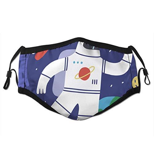Copertura facciale antipolvere protettiva per bocca lavabile,L'astronauta catturato una stella,Riutilizzabile antivento per la corsa all'aperto di campeggio di ciclismo di sci