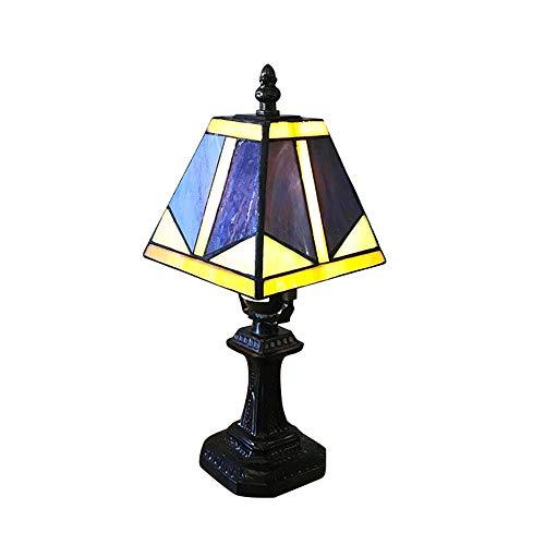 Tafellamp, 6 '' Tiffany-Stijl Bureaulamp, Vintage Tiffany-Stijl Leah Gekleurde Glazen Tafellamp, Gebruikt in Slaapkamer, Woonkamer, Salontafel, Boekenkast