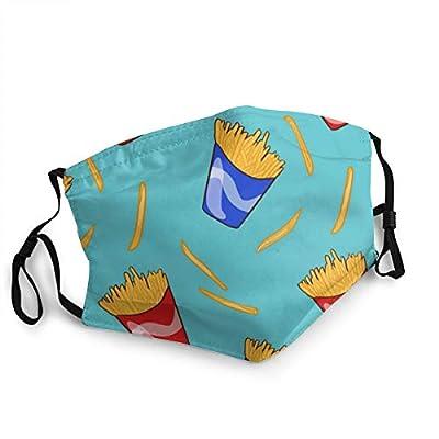 Hangdachang Masques Respirants pour Le Visage Frites Restauration Rapide Unisexe Bouche Casquette en Plein air Sport entraînement Cagoule Chapeaux 1 pièces