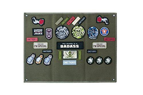 OneTigris Taktische Militär Patch Holder Platte Klett-Teller (Ranger Grün) |MEHRWEG Verpackung