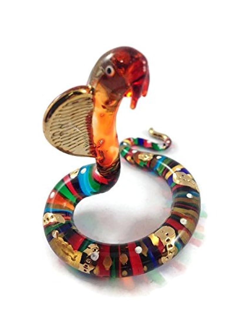 ポール飛行場気質ガラスの動物 ヘビ 手作り手吹きガラスの ガラス細工 ガラスの置物 ガラス ミニチュア 動物の置物 家の装飾 玩具動物園キッ - Miniature Dollhouse Animals snake figurines Glass Blown Toy Zoo Kid