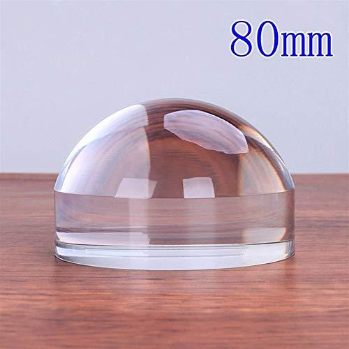 NO LOGO Peso del Papel Lupa de Escritorio de acrílico de la Lente de la Lupa Tabla pisapapeles Lupa de Lectura 50 mm 60 mm 80 mm 100 mm Cristal (Color : Diameter 80mm)