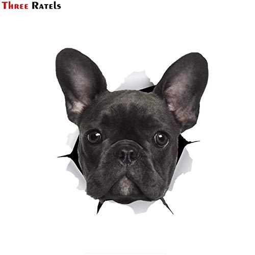 FAFPAY Sticker de Carro 1068 3D Preto francês Bulldog adesivo decalques do cão...