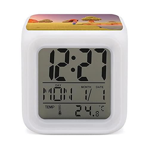 A-Nimal Crossing - Reloj despertador con función de cambio de color para niños, para dormir, para dormir y despertar luz de noche, talla única