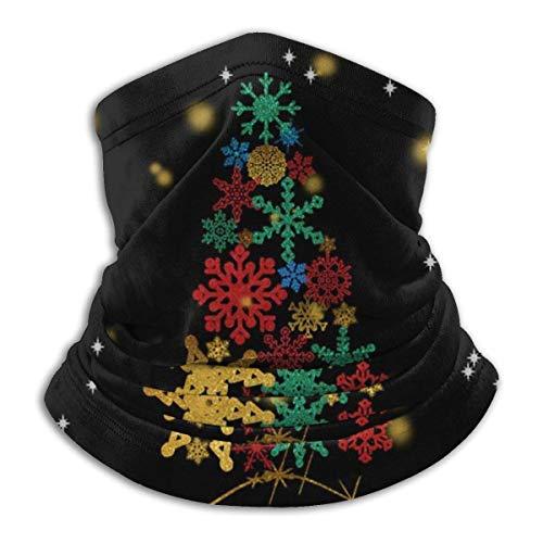 Winter mit Schneeflocken Weihnachtsbaum Fleece Halswärmer Gamasche Nahtlose Gesichtsmaske Outdoor Hals Gamasche Bandana Sturmhauben
