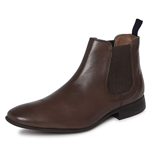 Red Tape Men's Teak Leather Boots-9 UK (43 EU) (RTE2532)