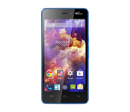 Wiko Highway Signs Dual-SIM Smartphone (4,7 Zoll (11,9 cm) Touch-Display, 8 GB Speicher, Android 4.4) blau