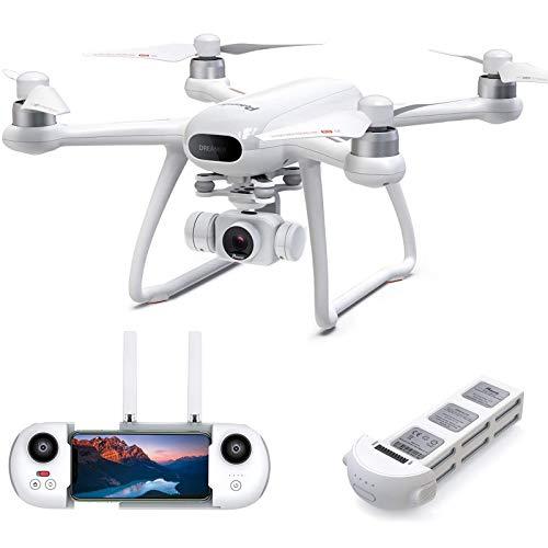 Potensic ドローン Dreamer 4K HDカメラ SONYセンサー GPS搭載 31分間飛行時間 ブラシレスモーター 広角 耐風 安定飛行 2時間充電 モード1/2自由転換 オートリターンモード フォローミーモード 高度維持 ヘッドレスモード 国内認証済み 白 P1
