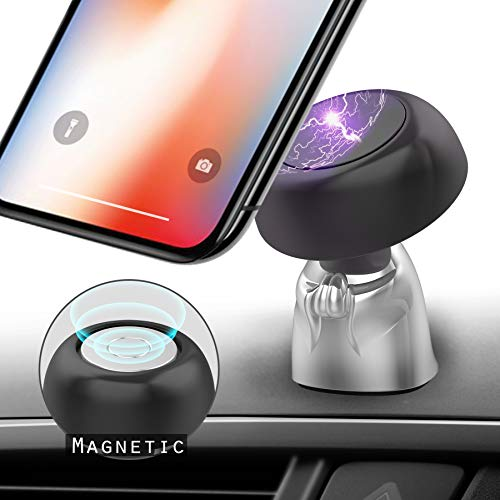 Magnetic Phone Mount,Tiamat+ 360 Degree Rotation Cell Phone Holder for Car,Little Monk Modeling Stand,Anti-Slip Car Holder Universal Dashboard Compatible with Samsung, Android Smartphones