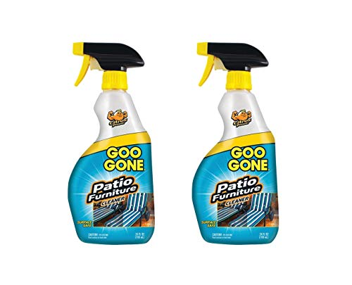 Goo Gone Patio Furniture Cleaner - Removes Dirt, Bird Droppings, Food, Mildew Stains and More from Your Outdoor and Patio Furniture - 24 Fl. Oz, Pack of 2