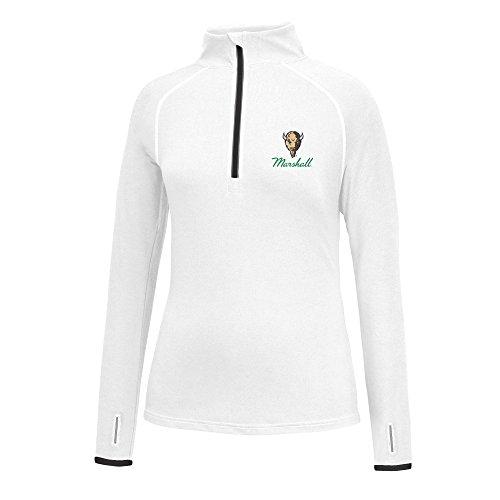 J America NCAA Frauen 'S Script Logo Power Durch Poly 1/2Zip Jacke, Damen, Power Through 1/2 Zip, Marshall Thundering Herd, Small