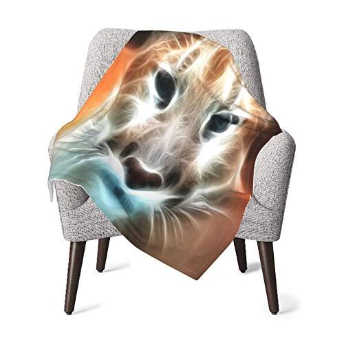 Olverz Fractal - Manta de leopardo para bebé, cómoda para guardería, manta de felpa gruesa para bebé, manta de bebé suave para cochecito de bebé, cuna recién nacidos