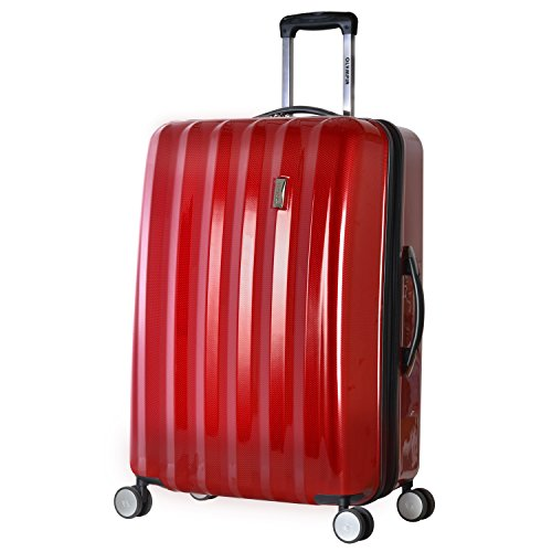 Olympia Titan 29' Expandable Large-Size Hardcase Spinner, Red, Black, One