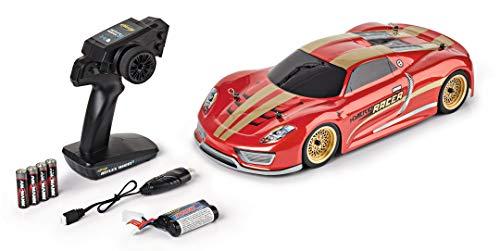 Carson 500404194 500404194-1:10 Hybrid Racer FE 2.4GHz 100% RTR, Ferngesteuertes Auto, RC-Fahrzeug, inkl. Batterien und Fernsteuerung, 2 WD, Bedruckte Karosserie, Anleitung, On Road Buggy