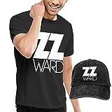 Baostic Camicie e T-Shirt Sportive Top e Bluse, Men's ZZ Ward Logo Tees Washed Denim Baseball Dad Hats Black