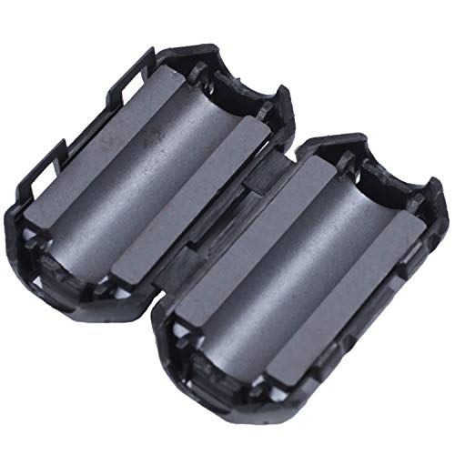 TOOGOO(R) 5 Pcs Clip On EMI RFI Noise Ferrite Core Filter for 7mm Cable